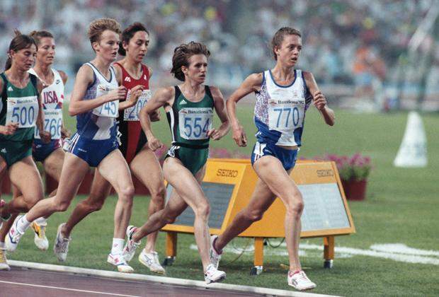 Олимпиада-1992. Елена Романова (справа)
