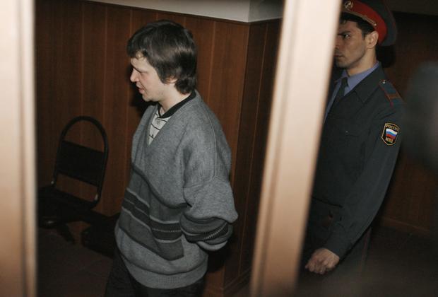 Александр Пичушкин во время оглашения приговора в Мосгорсуде