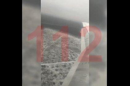 Опубликовано видео посадки SSJ-100 на недостроенную полосу