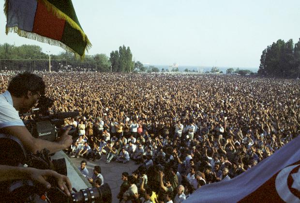 Митинг Народного фронта в Баку, лето 1989 года