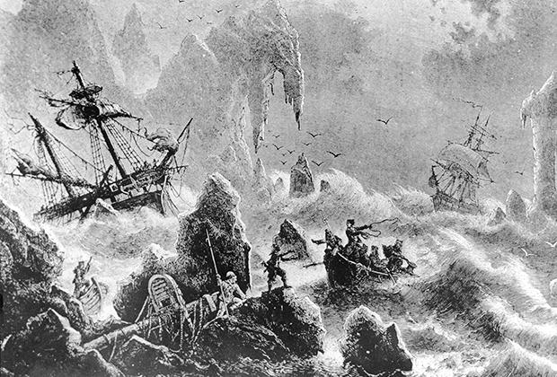 Шторм во время Второй Камчатской экспедиции