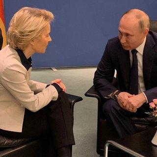 Владимир Путин и Урсула фон дер Ляйен