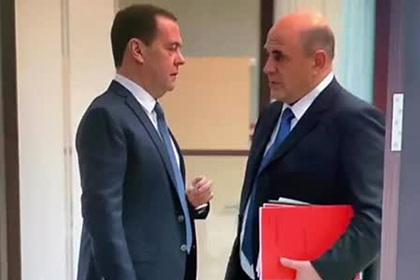 Разговор Медведева с Мишустиным перед встречей с Путиным попал на видео