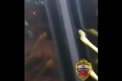 Россиянин напал на рейсовый автобус и попал на видео