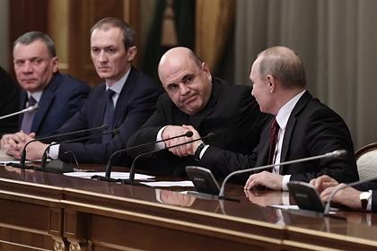 Опубликовано видео первой встречи Путина с новым правительством
