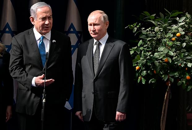 Владимир Путин и Биньямин Нетаньяху в Иерусалиме