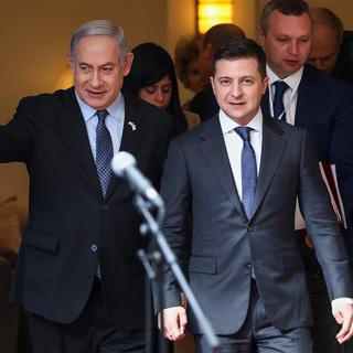 Биньямин Нетаньяху и Владимир Зеленский