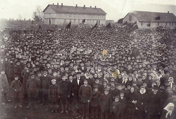 6 марта 1905 года. Манифестация в приходе Дундага.