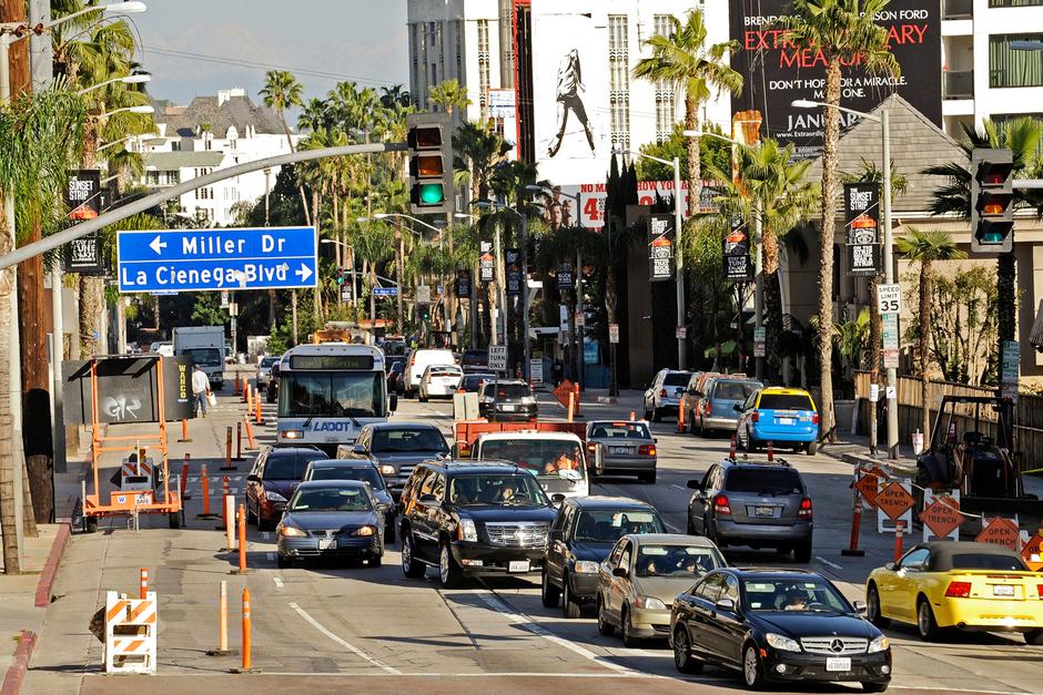 Sunset Boulevard, the Sunset Strip
