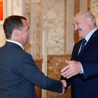 Дмитрий Медведев и Александр Лукашенко, 21 июня 2019