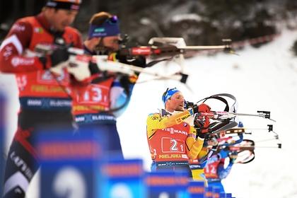 Российские биатлонисты упустили медали в смешанной эстафете на Кубке мира