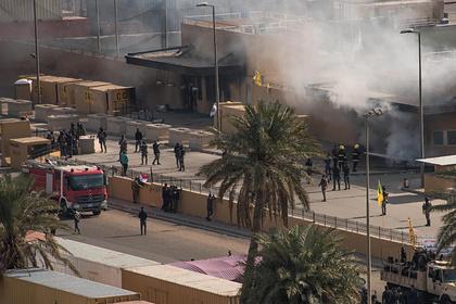 Пожар в здании посольства США в Багдаде (архив)