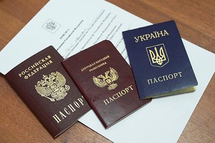 Названо число получивших российское гражданство жителей Донбасса