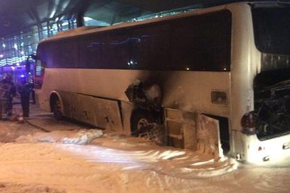 В московском аэропорту загорелся автобус с китайцами
