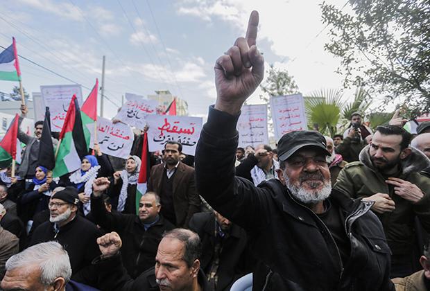 Палестинцы протестуют против «сделки века» накануне оглашения ее условий