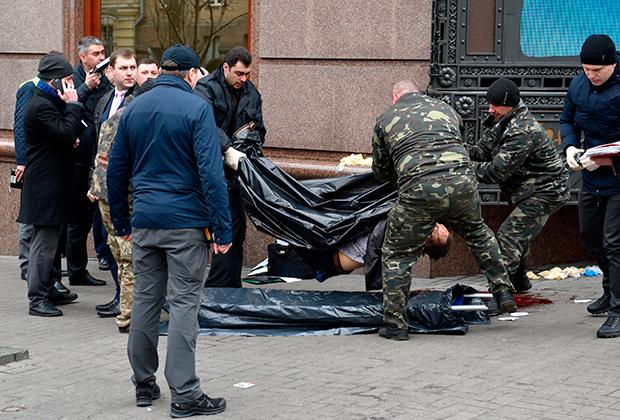 На месте убийства Дениса Вороненкова в Киеве