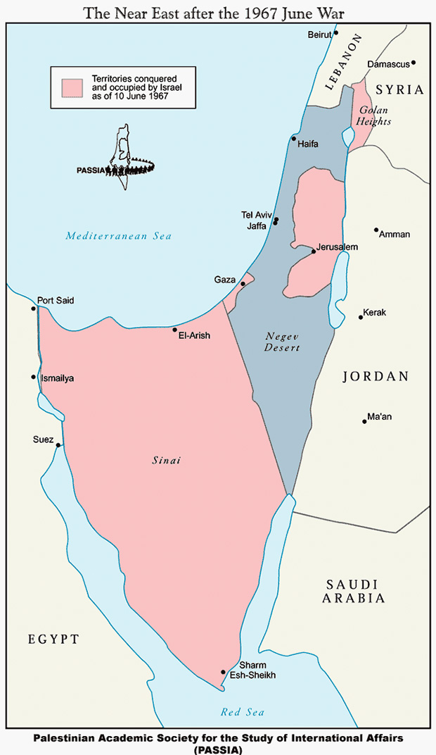 Границы на Ближнем Востоке после Шестидневной войны