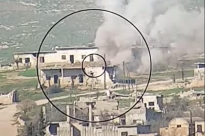 Охоту гвардейского сирийского танка на террористов сняли на видео