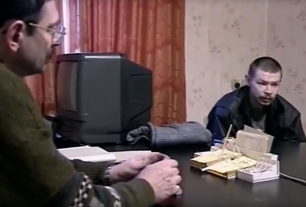 Александр Спесивцев во время допроса
