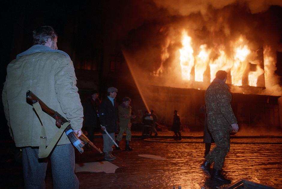 Пожары в Грозном. Январь 1995 года