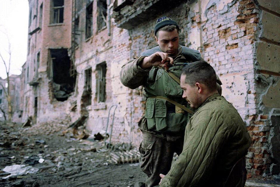 Российские солдаты в Грозном