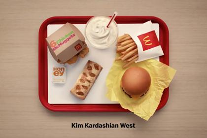 McDonald's показал стандартный обед Ким Кардашьян и ее мужа