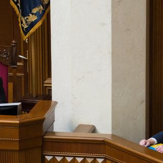 Экс-президент Украины Петр Порошенко и Шокин (справа) в 2015 году