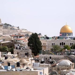 Вид на Храмовую гору и мечеть Куббат-Ас-Сахра в Иерусалиме