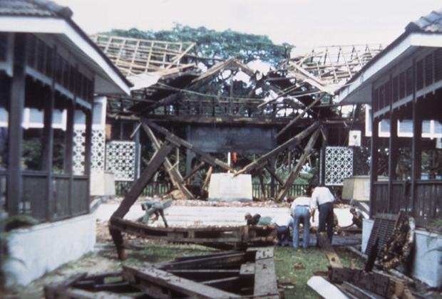 Место покушения в Бирме