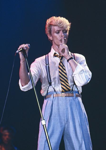 Дэвид Боуи во время тура Serious Moonlight Tour. Брюссель, 1983 год