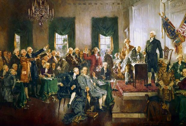 Говард Чендлер Кристи. «Сцена подписания Конституции Соединенных Штатов»