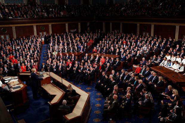 Трамп выступает с речью в Конгрессе, 4 февраля 2020 год
