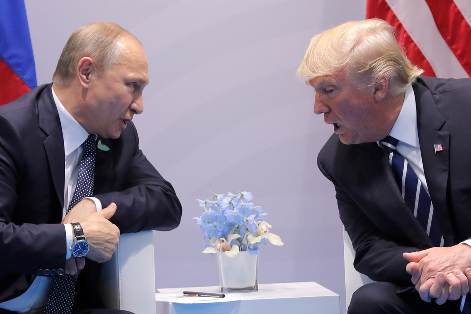 Владимир Путин и Дональд Трамп, 2017 год