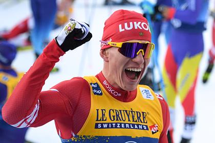Российский лыжник Большунов выиграл масс-старт на Кубке мира