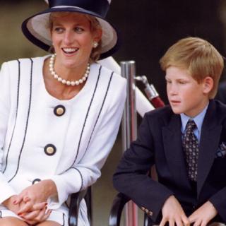 Принцесса Диана и принц Гарри в 1995 г.