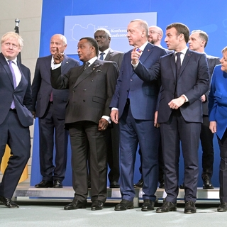 Участники Международной конференции по Ливии в Берлине