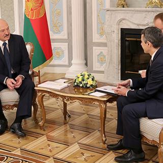 Александр Лукашенко и Иньяцио Кассис