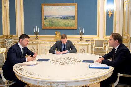 Владимир Зеленский   и Оливер Варгеи