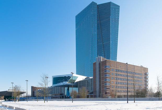 Здание европейского центробанка