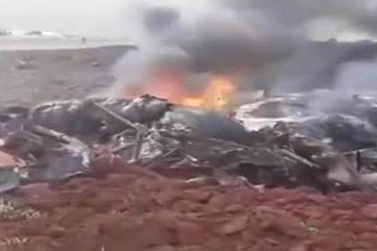 Опубликовано видео с места крушения сбитого Ми-17 в Сирии
