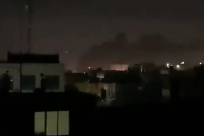 Появилось видео с места обстрела американских объектов в Багдаде