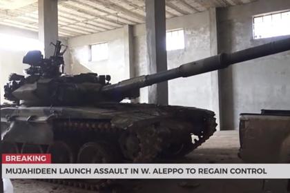 Трофейный Т-90 бросили в бой против сирийской армии photo