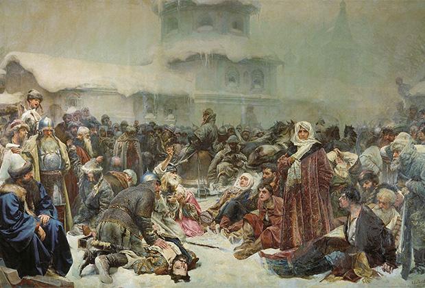 Клавдий Лебедев «Марфа Посадница. Уничтожение новгородского веча»