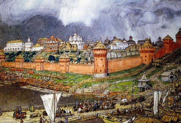 Аполлинарий Васнецов «Московский Кремль при Иване III»