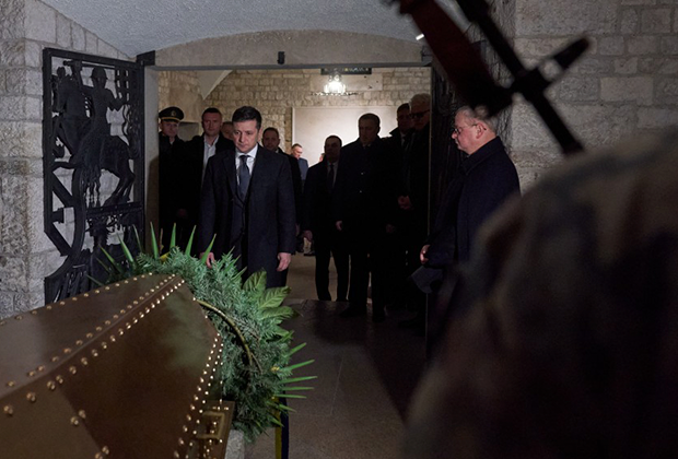 Владимир Зеленский во время официального визита в Польшу