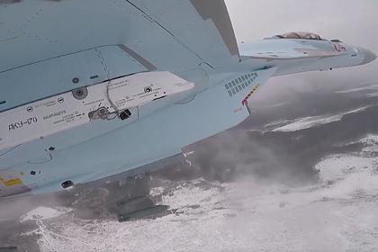 Бомбежку Су-35С показали от первого лица
