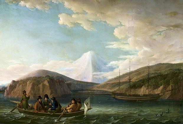 Крузенштерн в Авачинской бухте