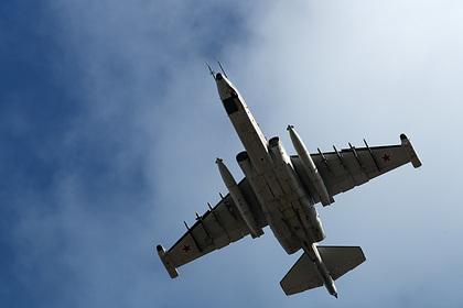 Российский штурмовик Су-25 загорелся при взлете