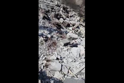 Появилось видео последствий турецкого обстрела в Сирии