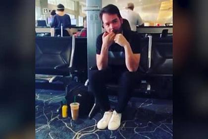 Негигиеничные действия пассажира в зале ожидания аэропорта осудили в сети